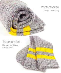 warme kuschelige Socken grau