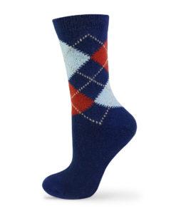 blaue warme Socken Lammwolle