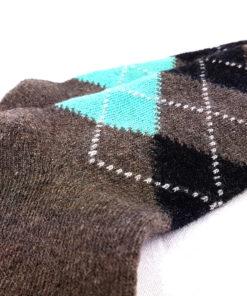 braune Socken warm detail