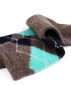 braune Socken warm