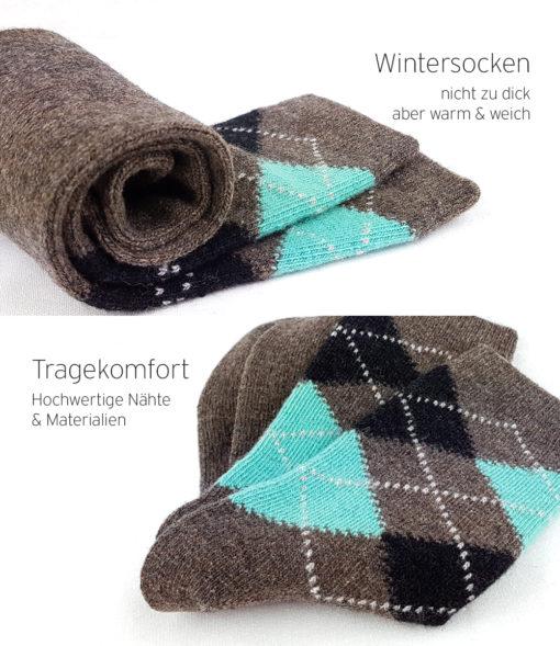 braune Socken kuschelig warm