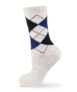 Hellgraue Socken Lammwolle