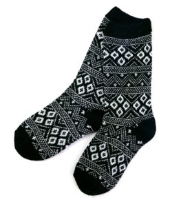 Jacquard Socken mit Angorawolle
