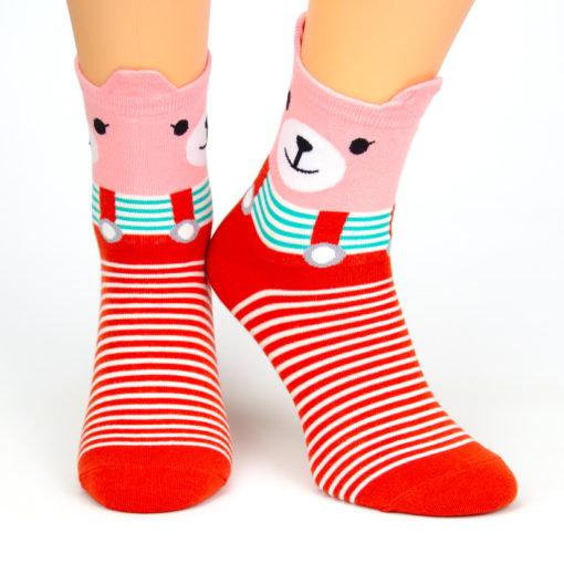 Socken rotes Bärchen