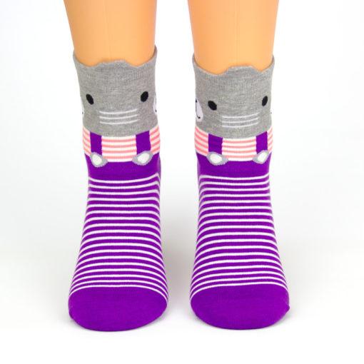 bunte Socken Katze