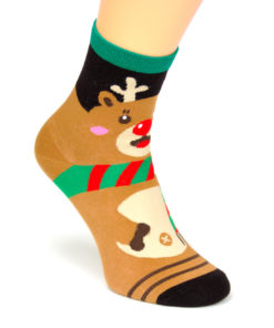 Socken Weihnachten Rudolf
