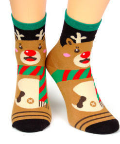 Motivsocken Weihnachten Rudolf