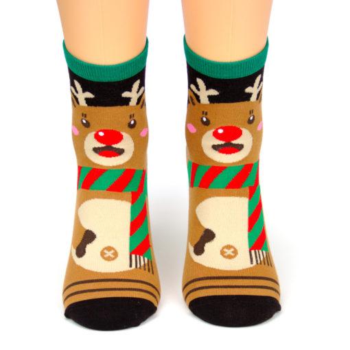 Weihnachtssocken Rudolf