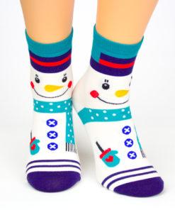 Socken mit Schneemann