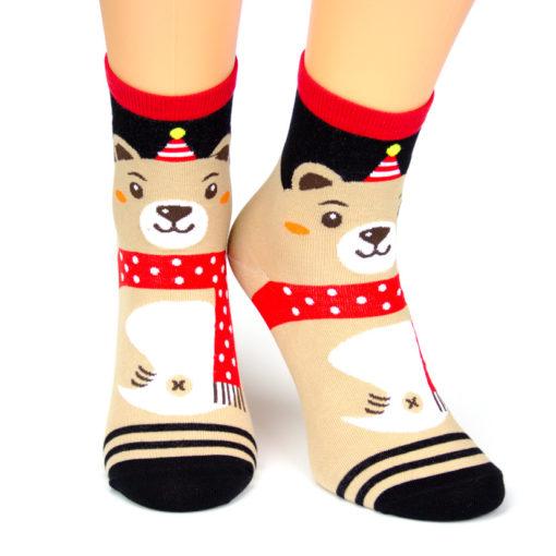 Weihnachtssocken Bär