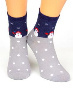 Weihnachtssocken Schneemann