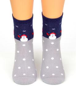 Schneemann Socken