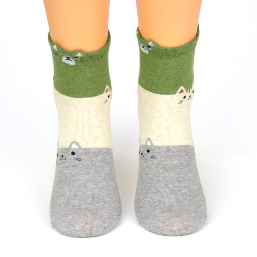 bunte Socken mit Katze