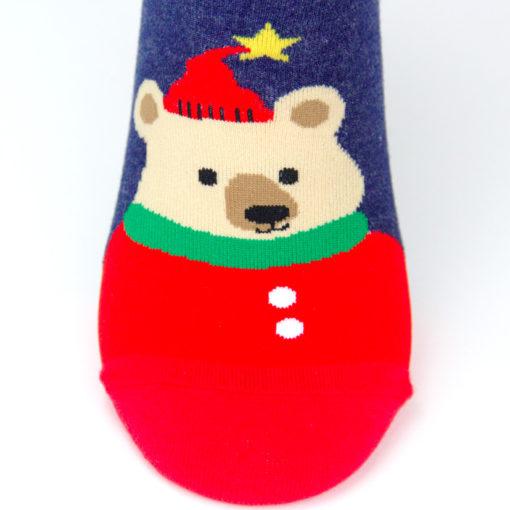 Weihnachtsbär Socken