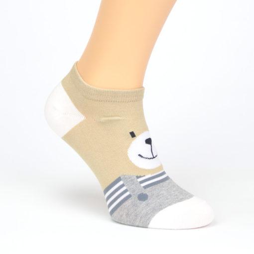 Bunte Socken mit Bär
