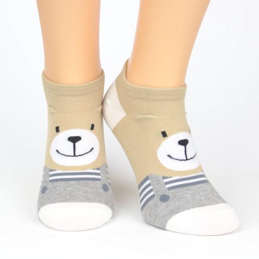 Motiv Socken lächelnder Bär