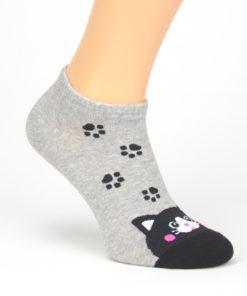 Katze Socken grau schwarz