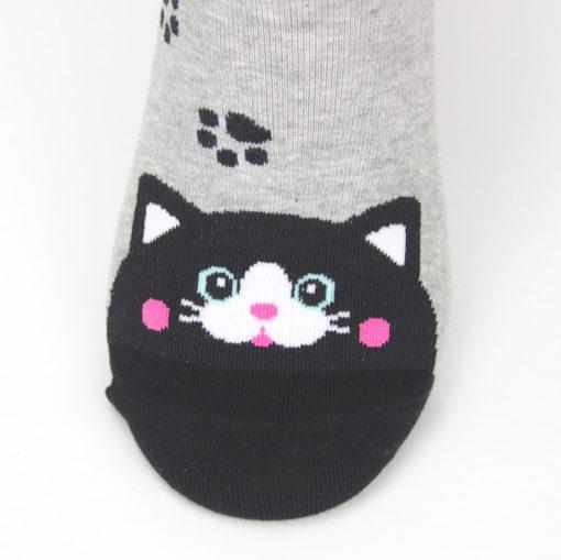 schwarze Katze Socken