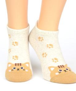 Katzensocken beige braun