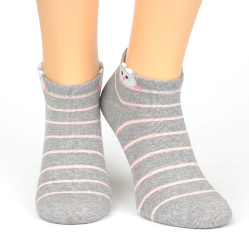 Sneaker Socken neugieriger Hamster