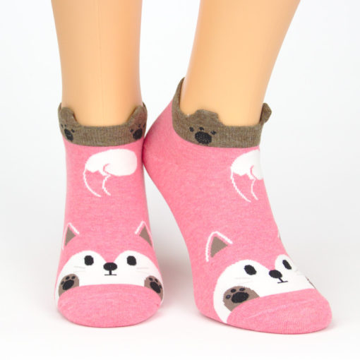 Sneaker Socken schwanzwedelnder Fuchs