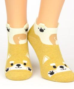 Sneaker Socken schwanzwedelnder Hund