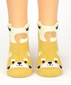 Schwanzwedelnder Hund Socken