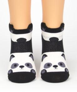 Socken schwanzwedelnder Panda