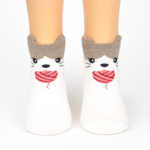 Katzen Socken Wollknoll