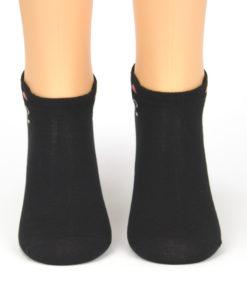 Sneaker Socken schwarzer Bär