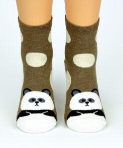 Socken zufriedener Panda