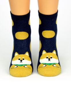 zufriedener Shiba Socken
