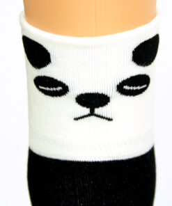 Panda Socken schwarz weiß